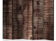 Paraván - Dark Brown Boards II [Room Dividers]